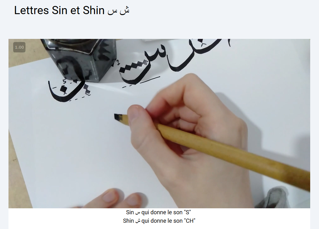 apprendre la calligraphie arabe en ligne