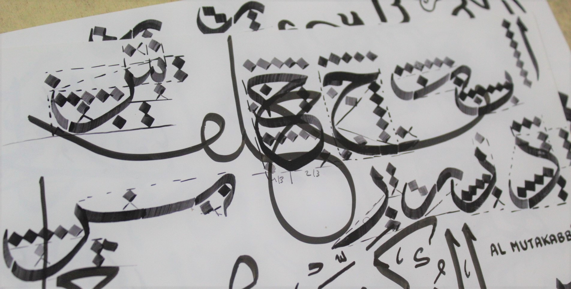 exercices lettres calligraphie arabe