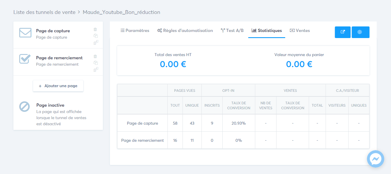 analyser page capture