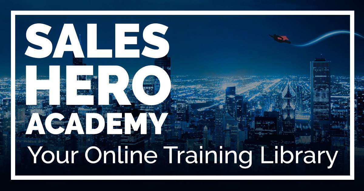 Sales Hero Academy home page