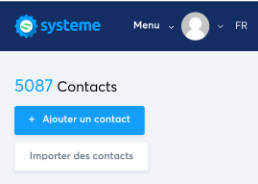 contacts systeme.io