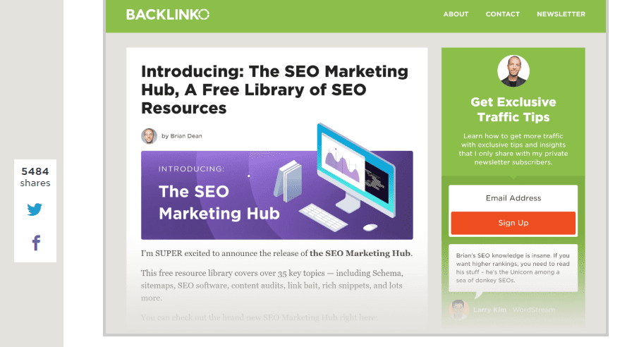 the SEO marketing hub