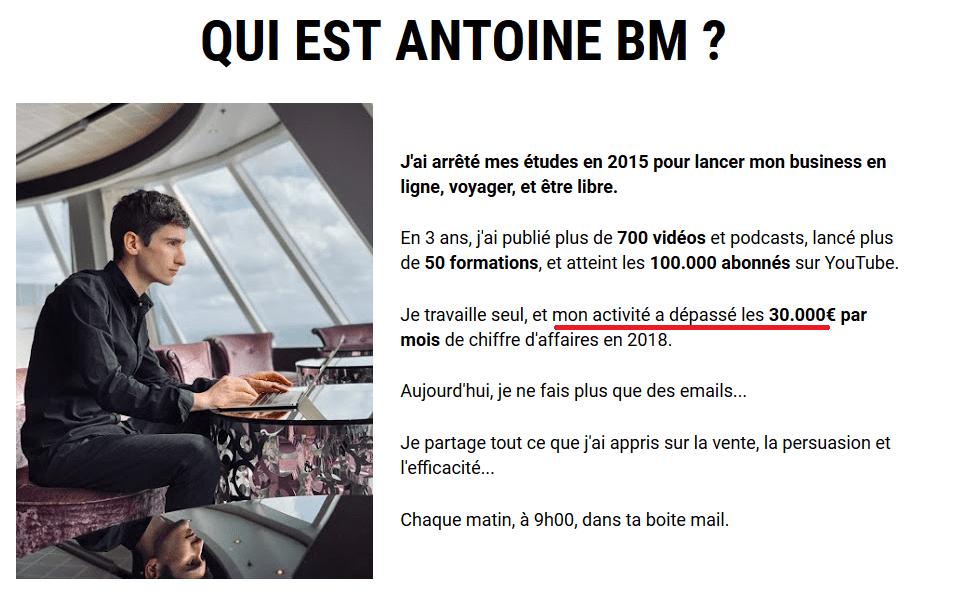qui est Antoine BM