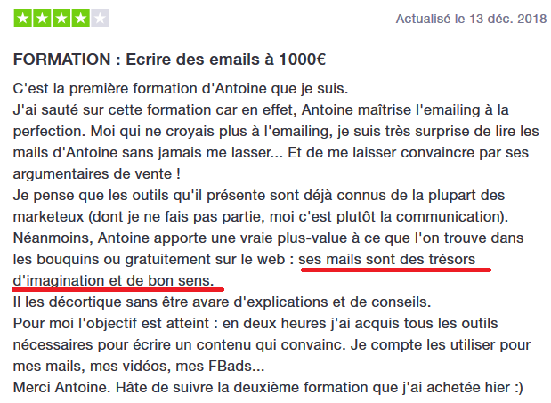 Avis sur Antoine BM