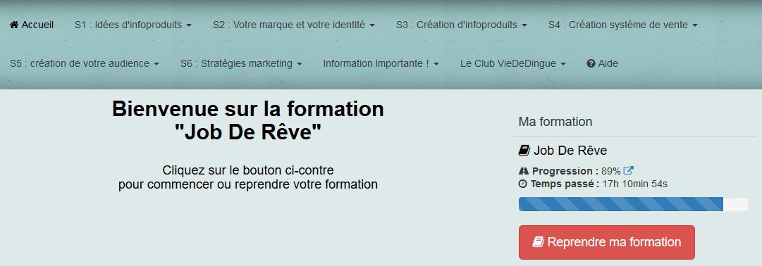 formation Job De Rêve