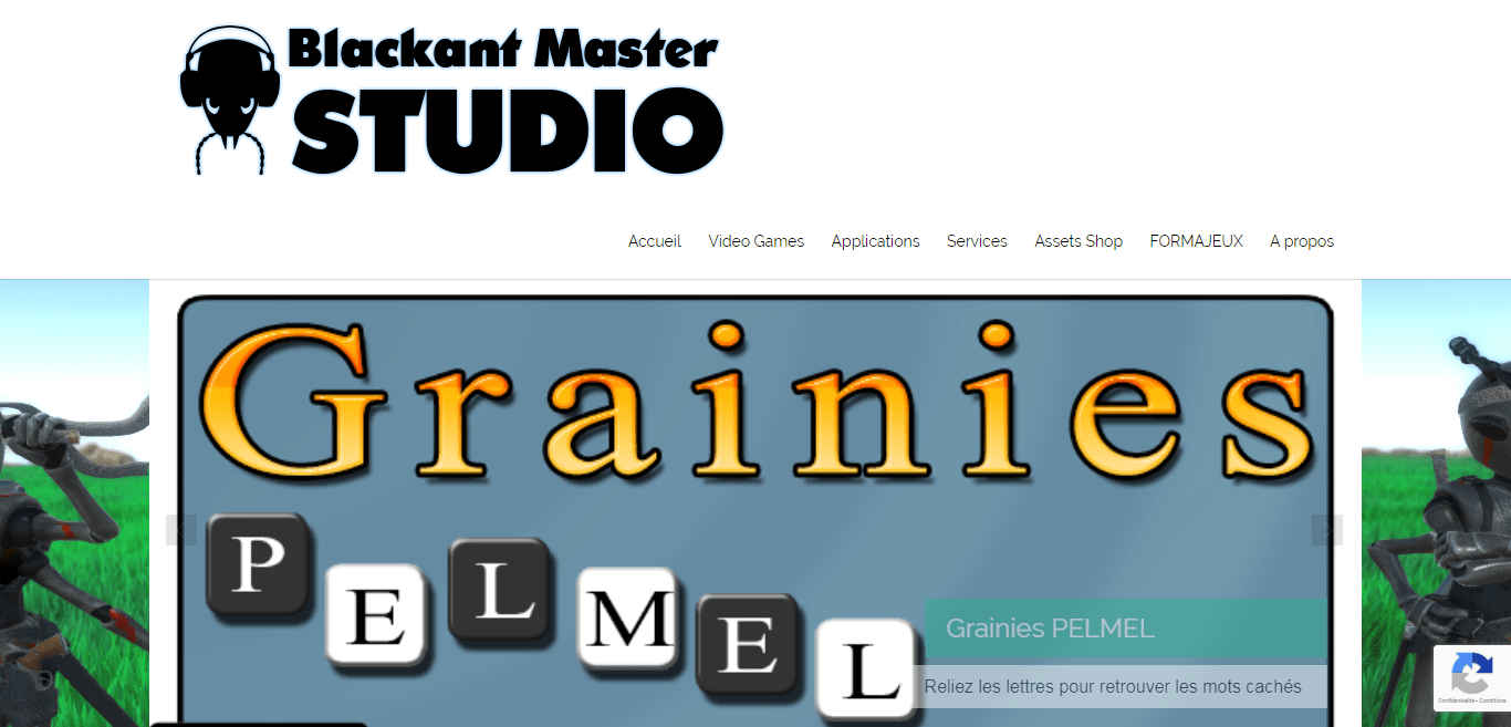 Page d'accueil de Blackant Master Studio