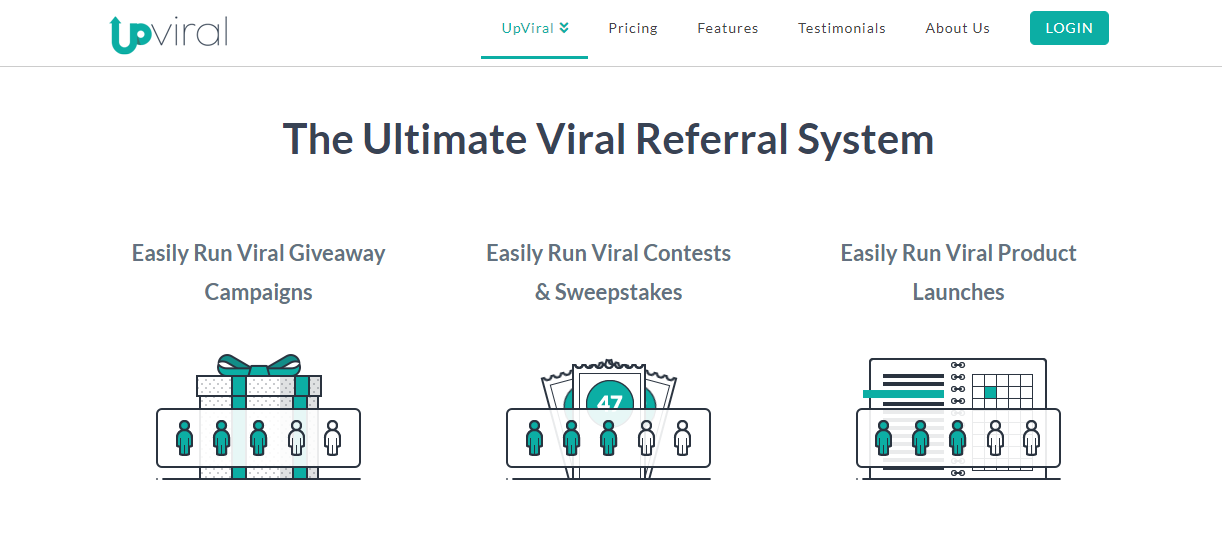 Upviral's home page