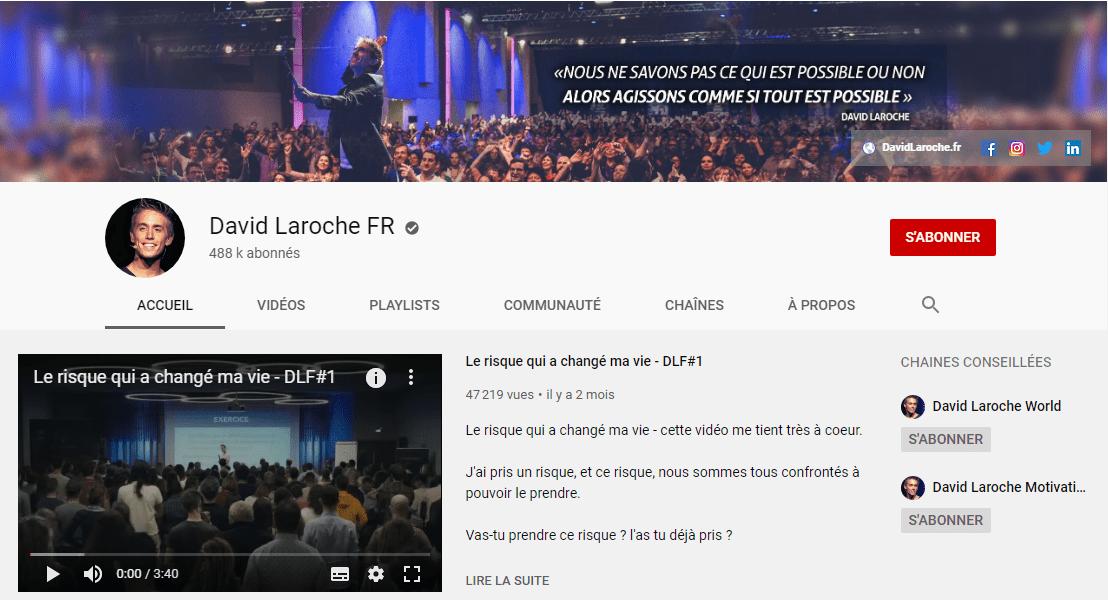 La chaîne Youtube de David Laroche