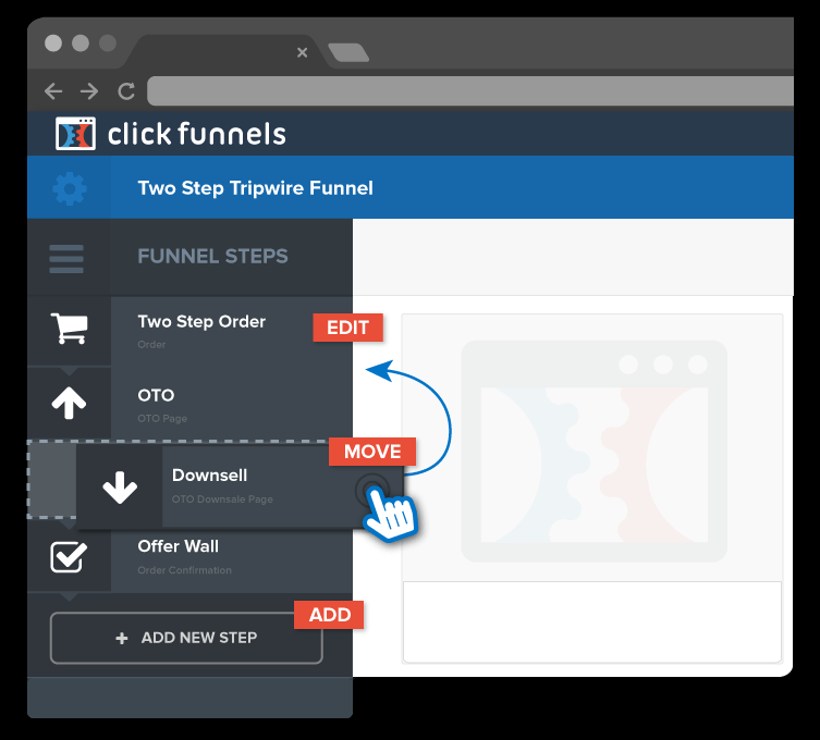 customize a funnel