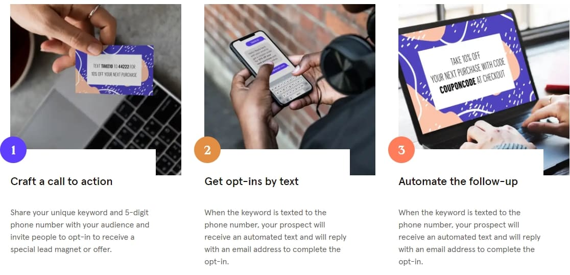 Opt-in texts