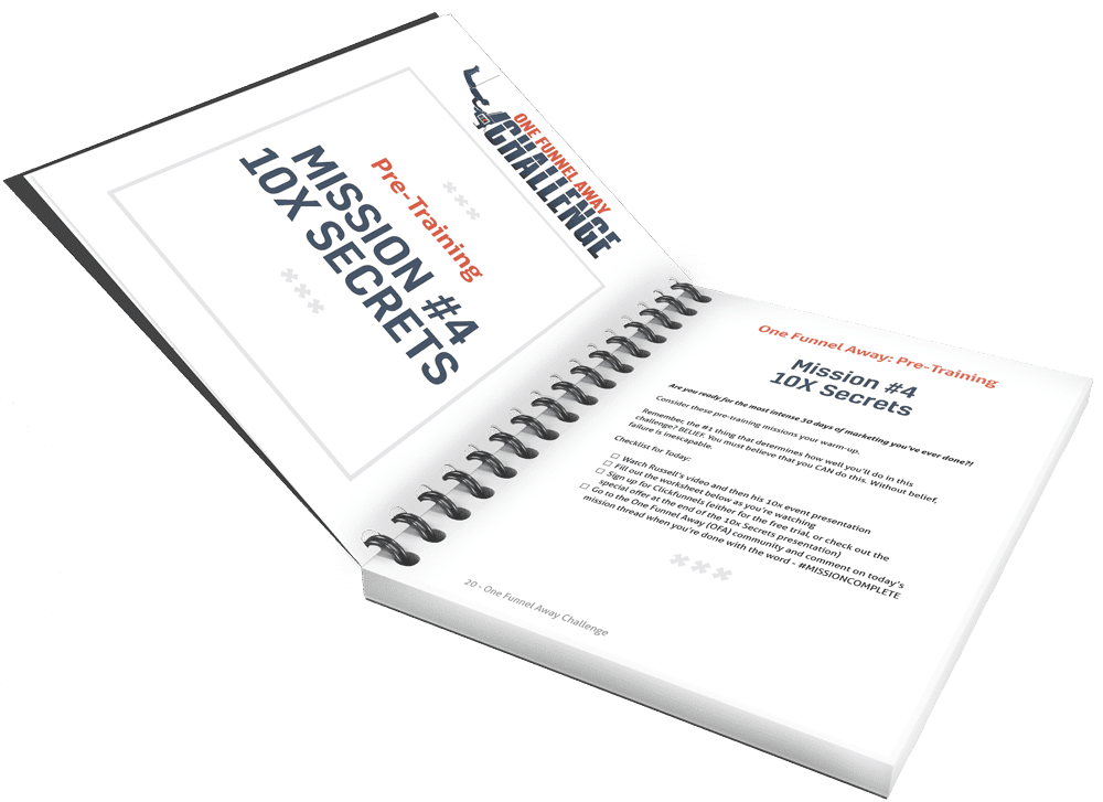 One Funnel Away Challenge workbook PDF