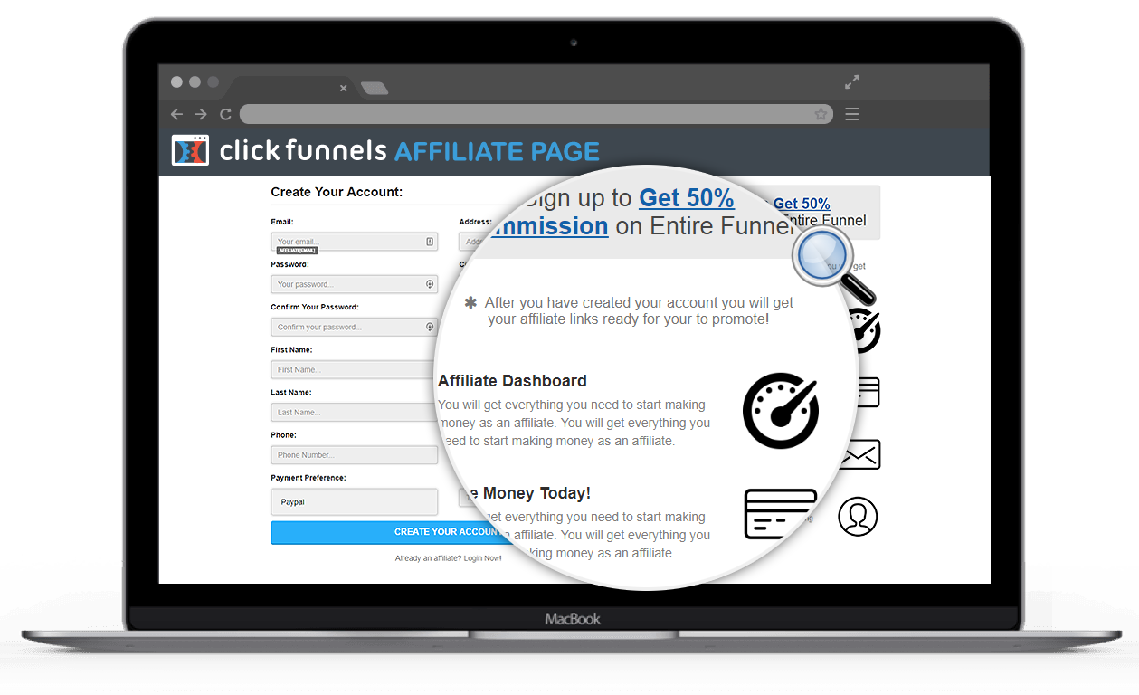 clickfunnels affiliate dashbord