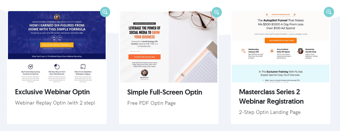 OptimizePress WordPress landing page templates