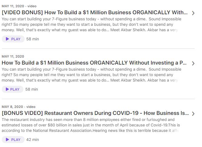 diverse mix of topics