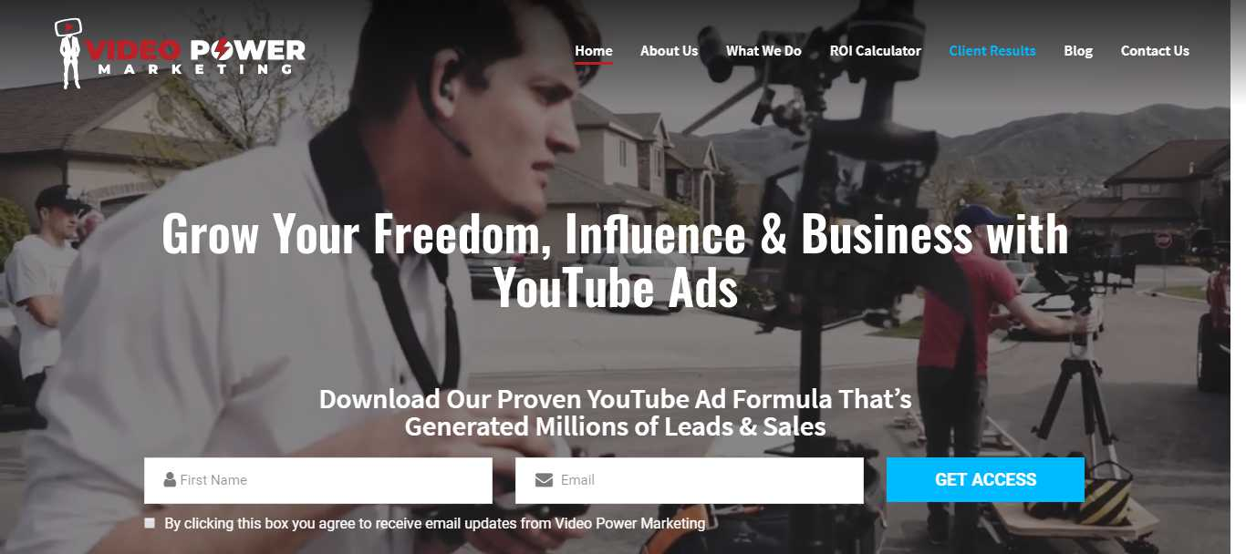 Video Power Marketing's home page