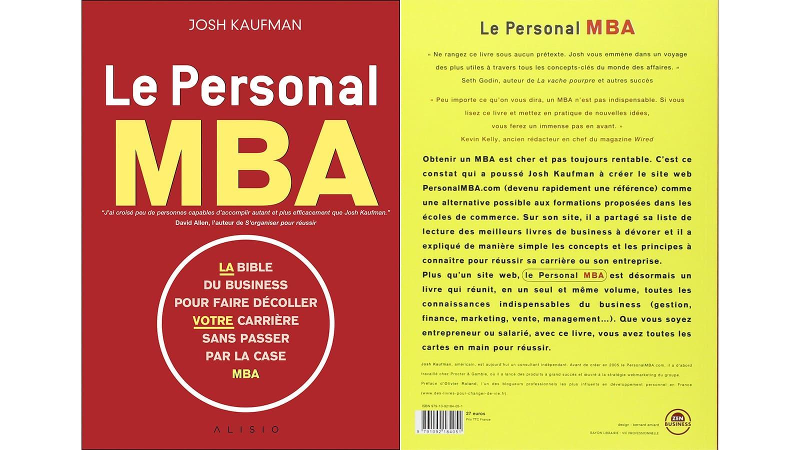 """La couverture du livre """"Le Personal MBA"""""""