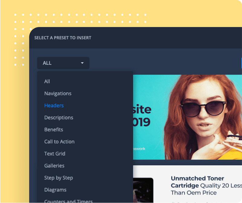 xFunnels' page editor