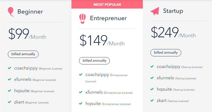 XFunnels pricing
