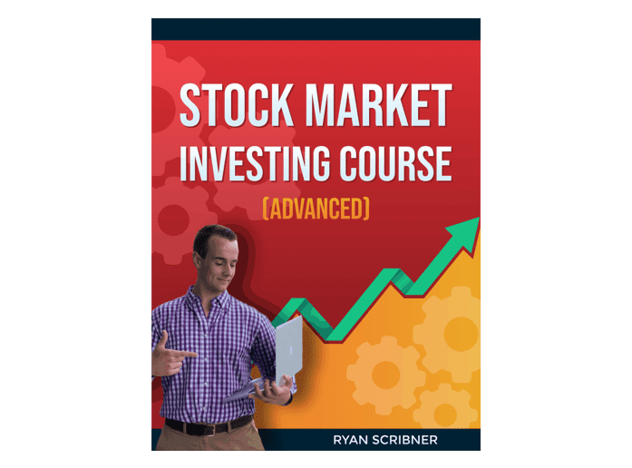 "The cover of the book ""Stock market investing course"""