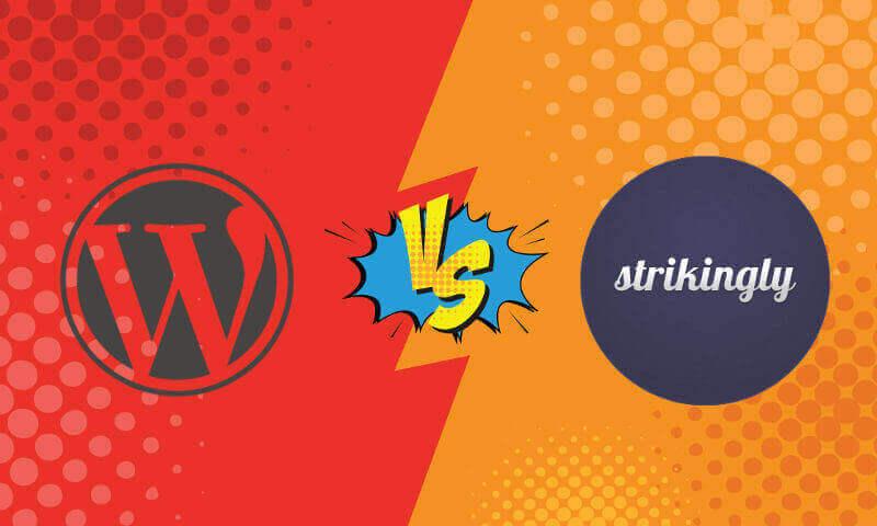 Wordpress vs Strikingly