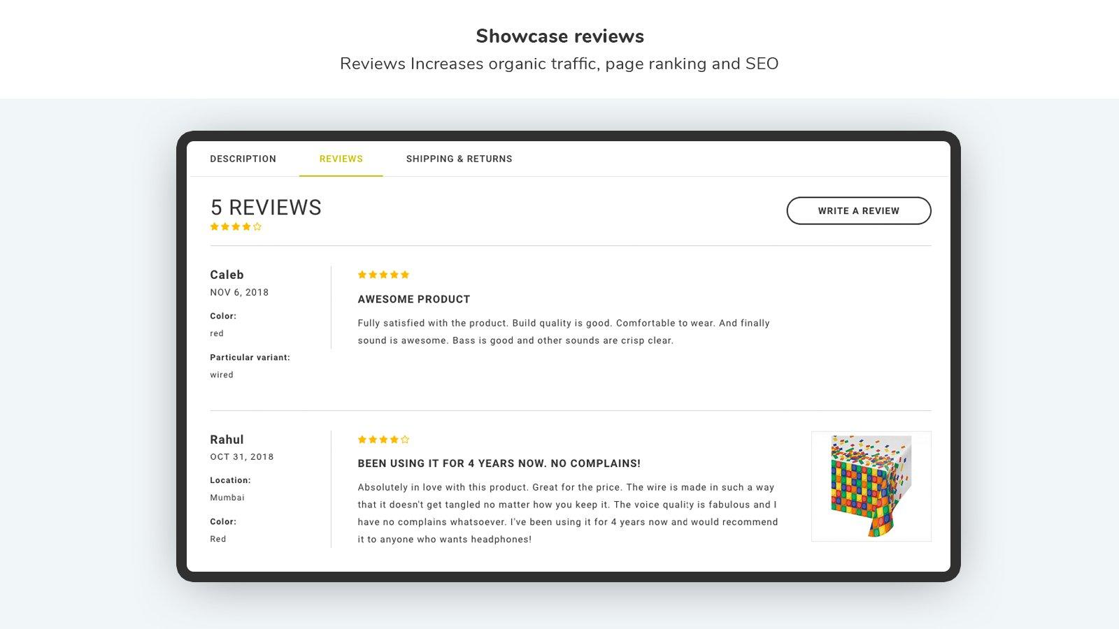 Shopify Customer Reviews