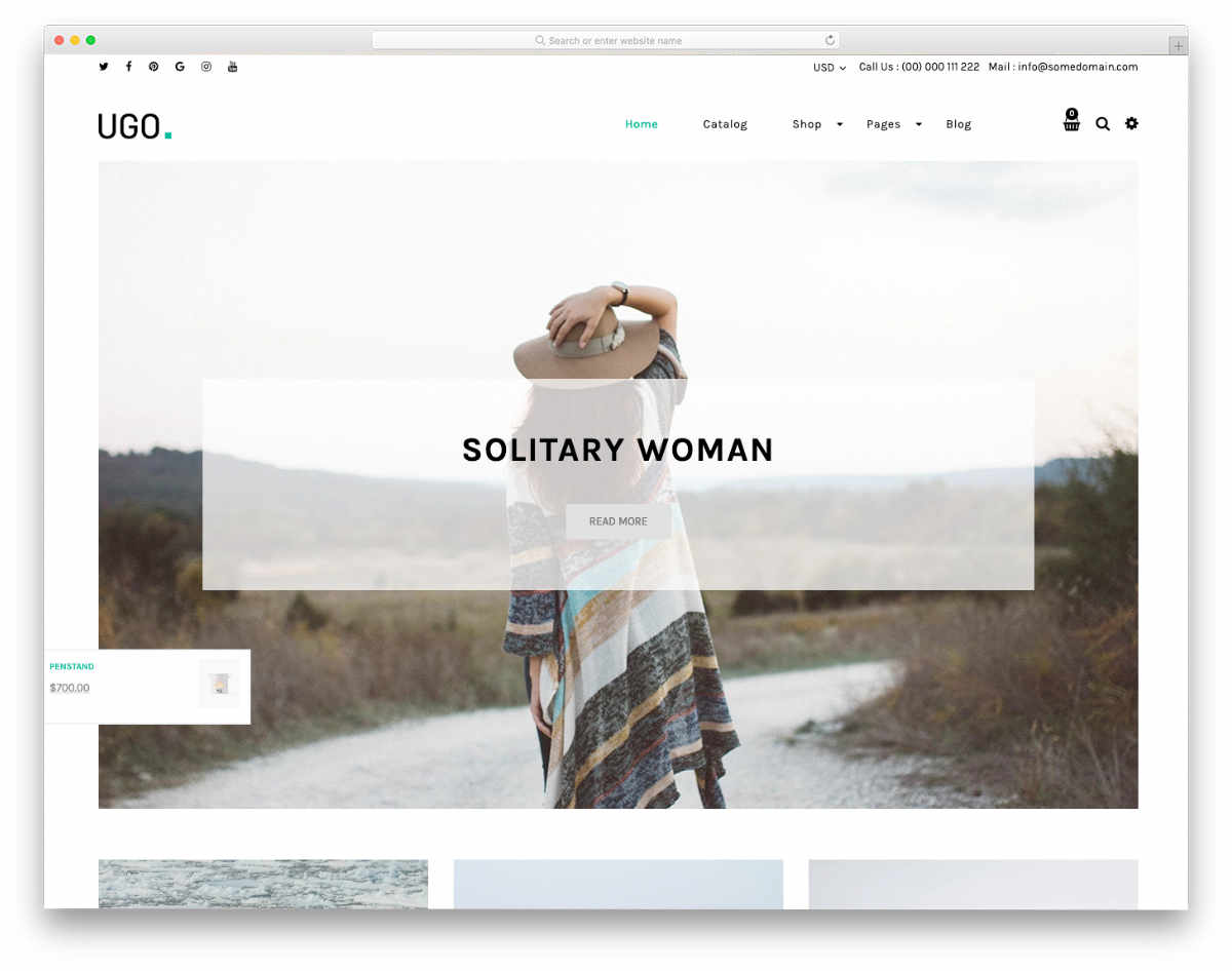 Ugo shopify blog theme