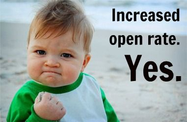 Increased open rate