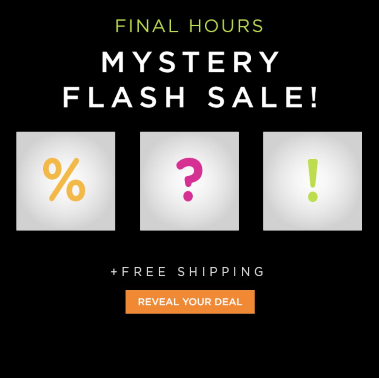 Vente flash mystère