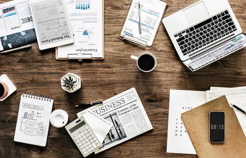 desk work business office finance