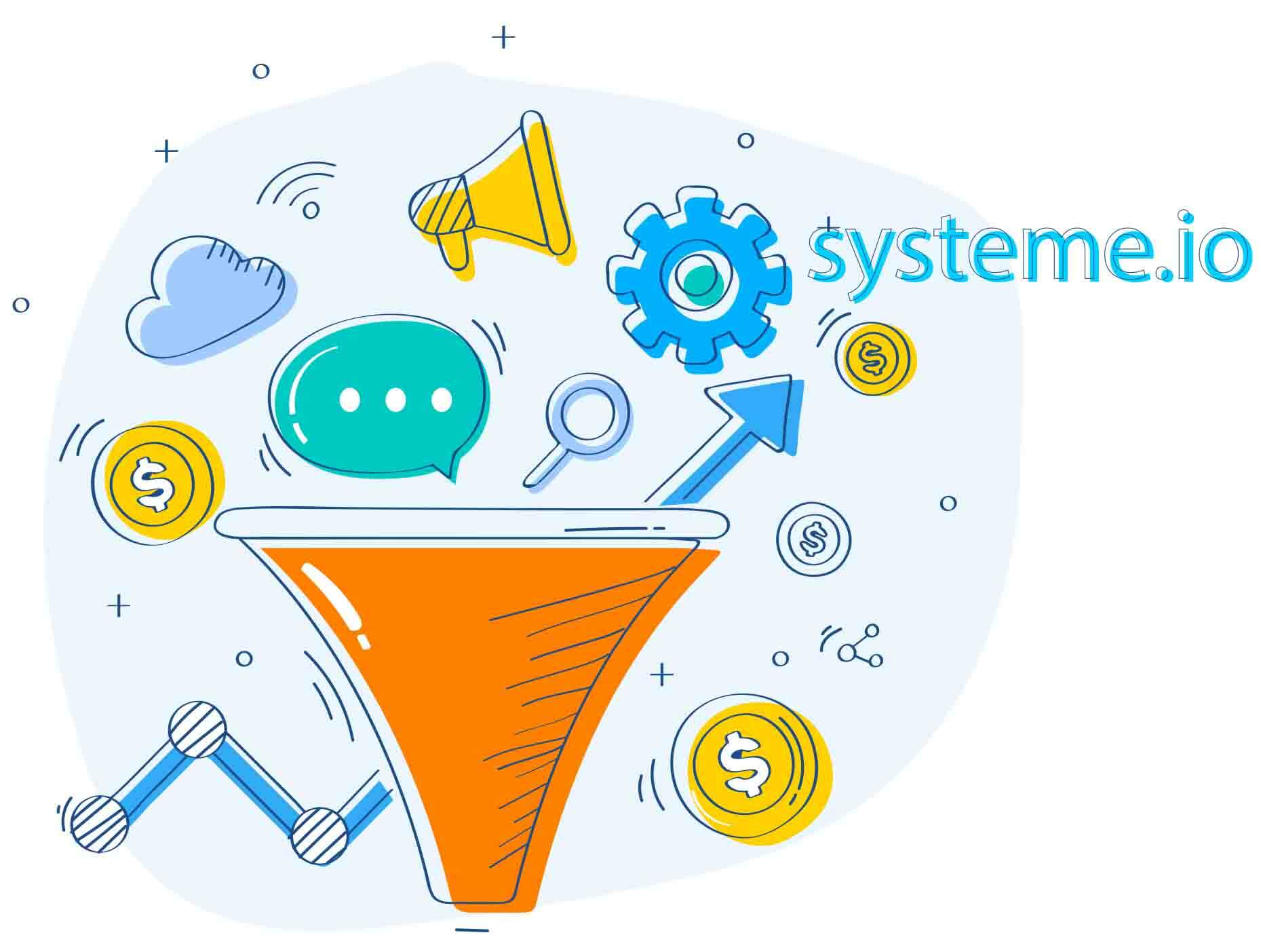 build sales funnel with systeme.io