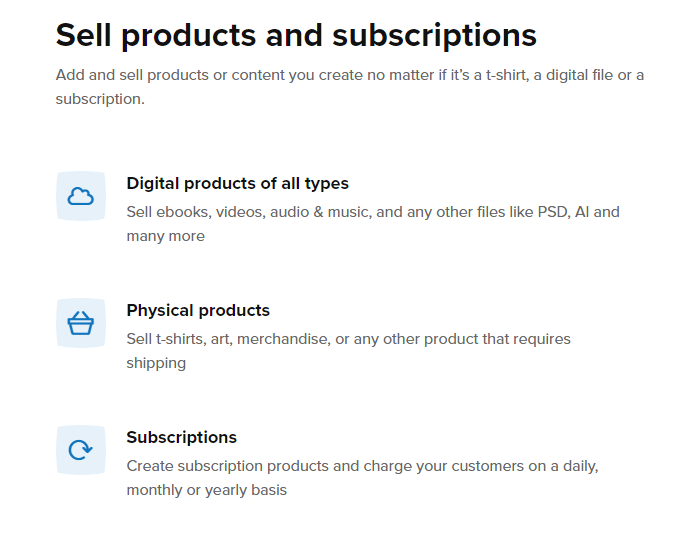 sell product with Sellfy