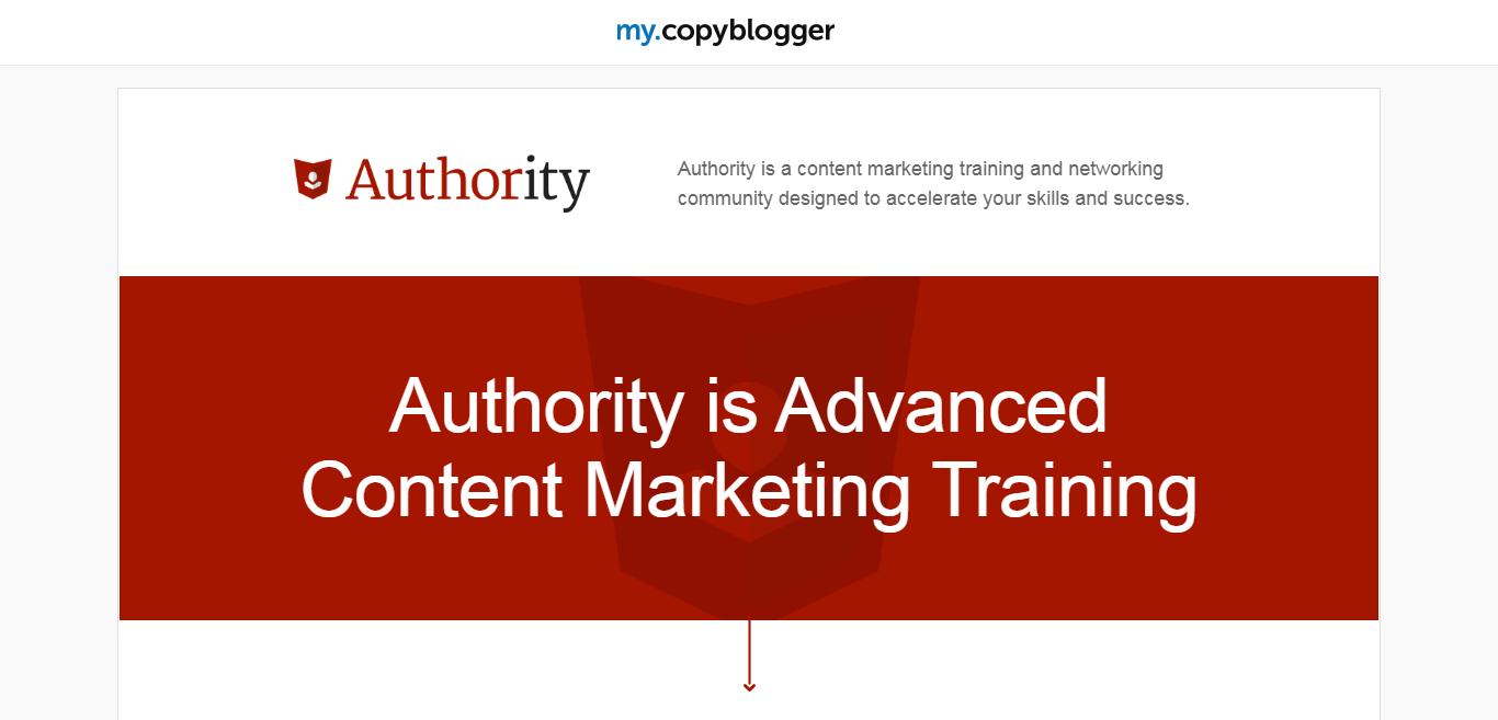The Copyblogger's Authority Program