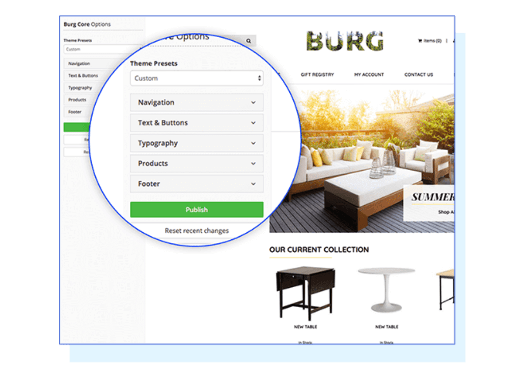 Designing your store
