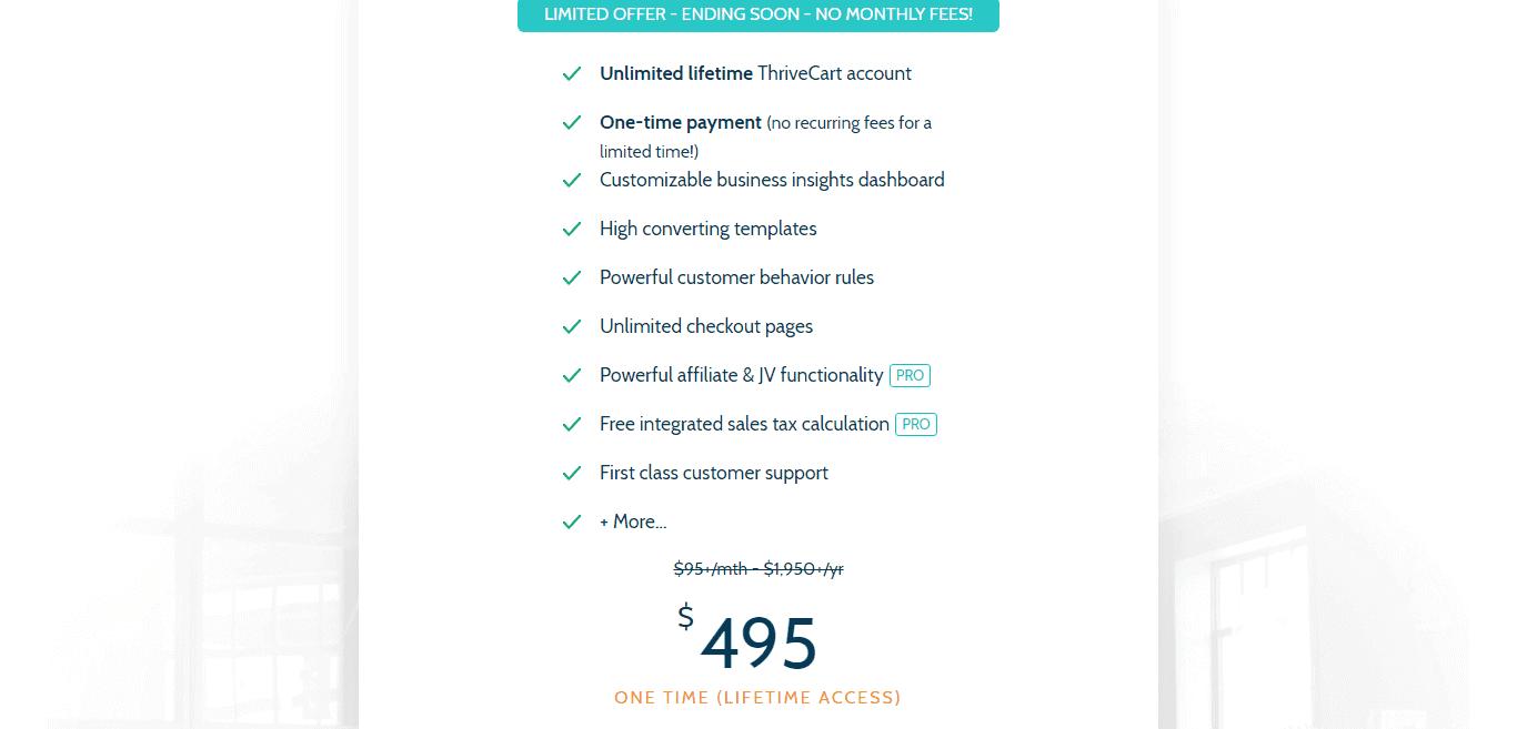 Valores do ThriveCart