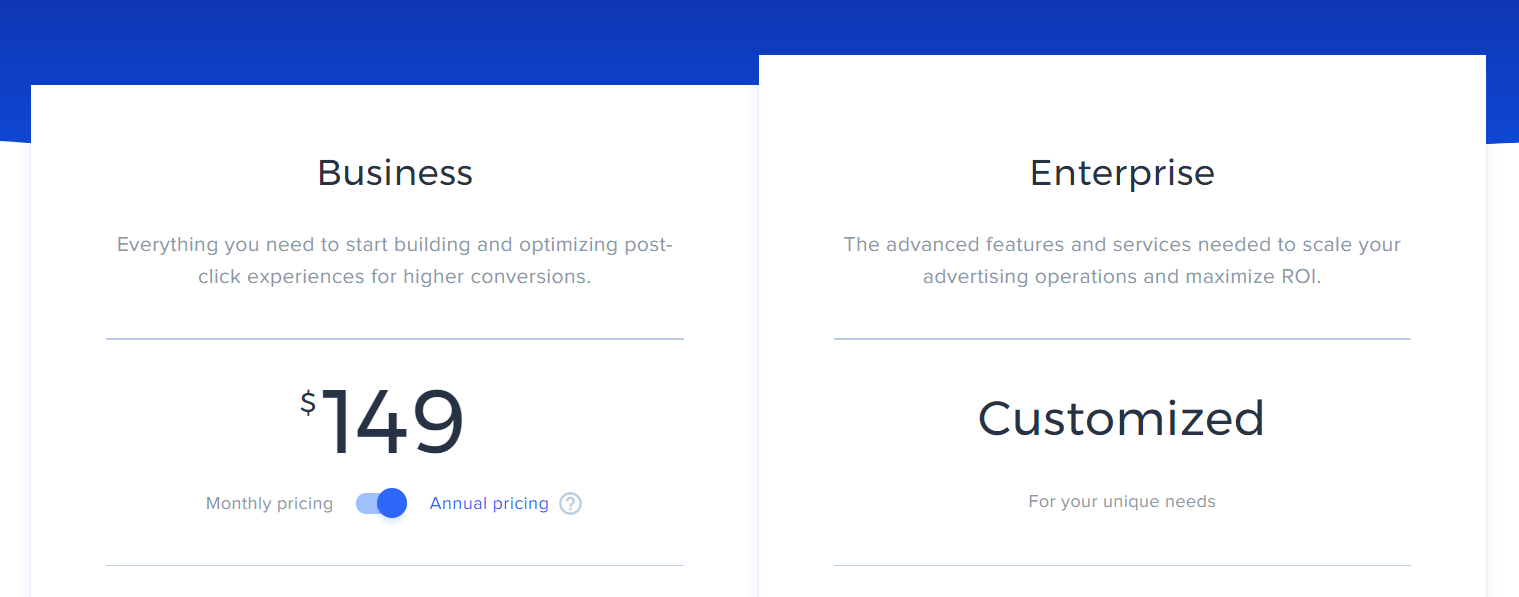 Instapage Pricing 2020