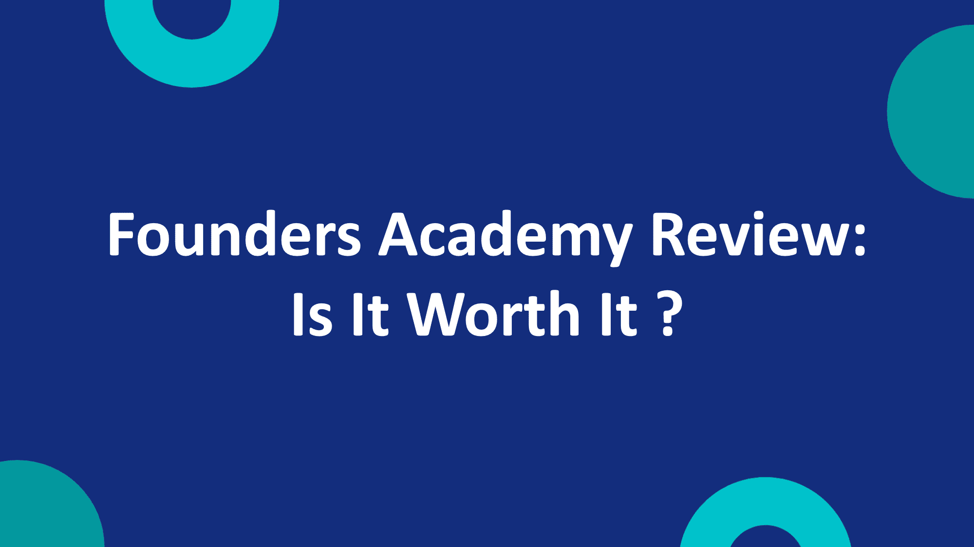 Founders Academy Review