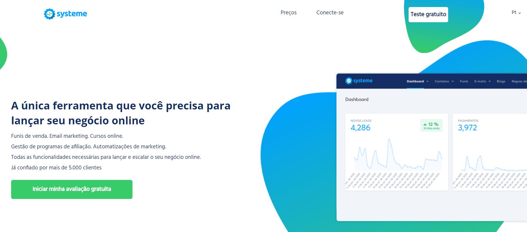 Systeme.io's website