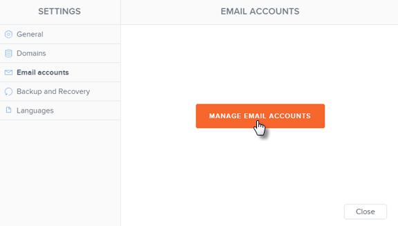 Webnode email accounts