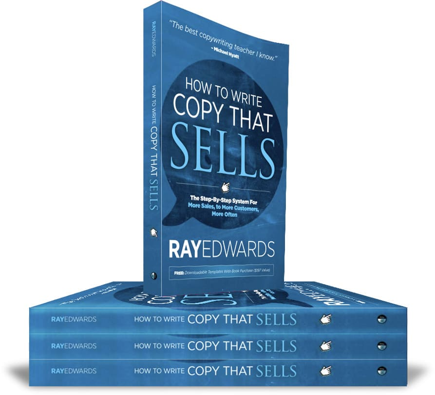 "The cover of the book ""How To Write Copy That Sells"""