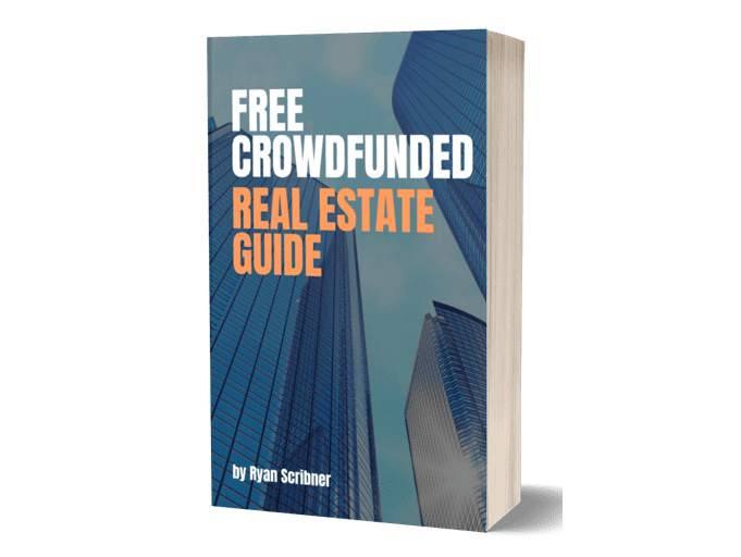 """The cover of the book """"Free crowdfunded real estate guide"""""""