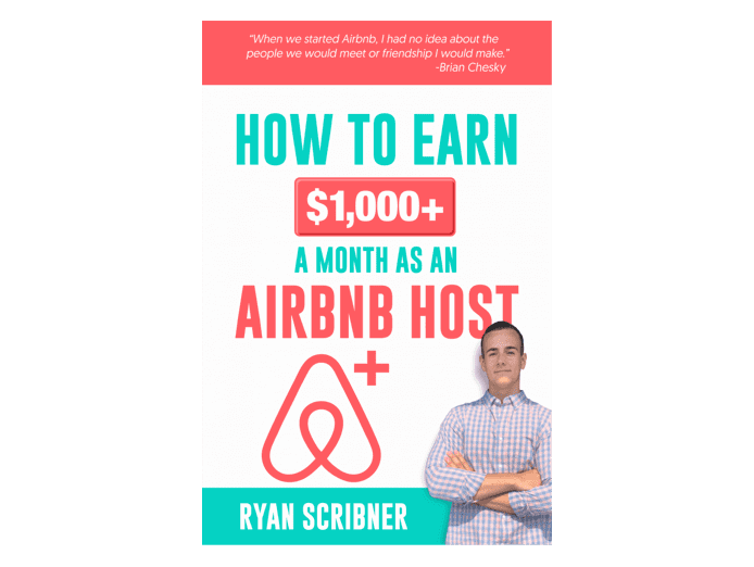"""The cover of the book """"how to earn $1,000+ a month as an airbnb host"""""""