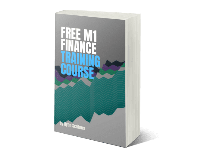 """The cover of the book """"Free M1 finance training course"""""""