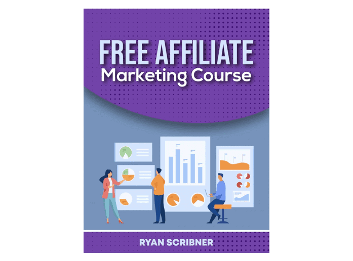 """The cover of the book """"Free affiliate marketing course"""""""