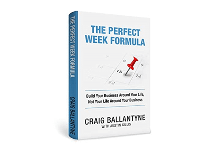 The cover of the book: The Perfect Week Formula