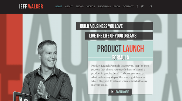 Jeff Walker product launch