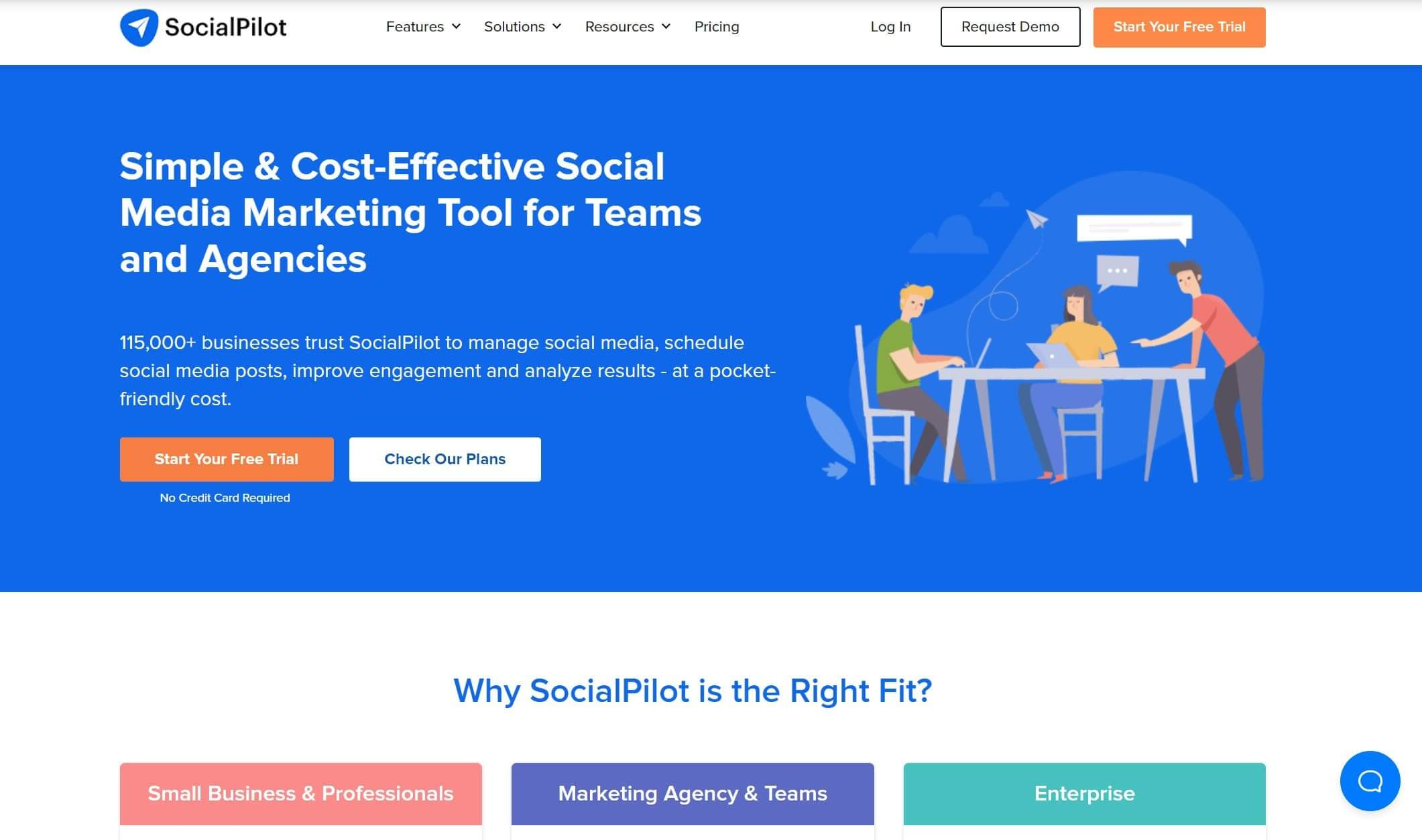 SocialPilot's website
