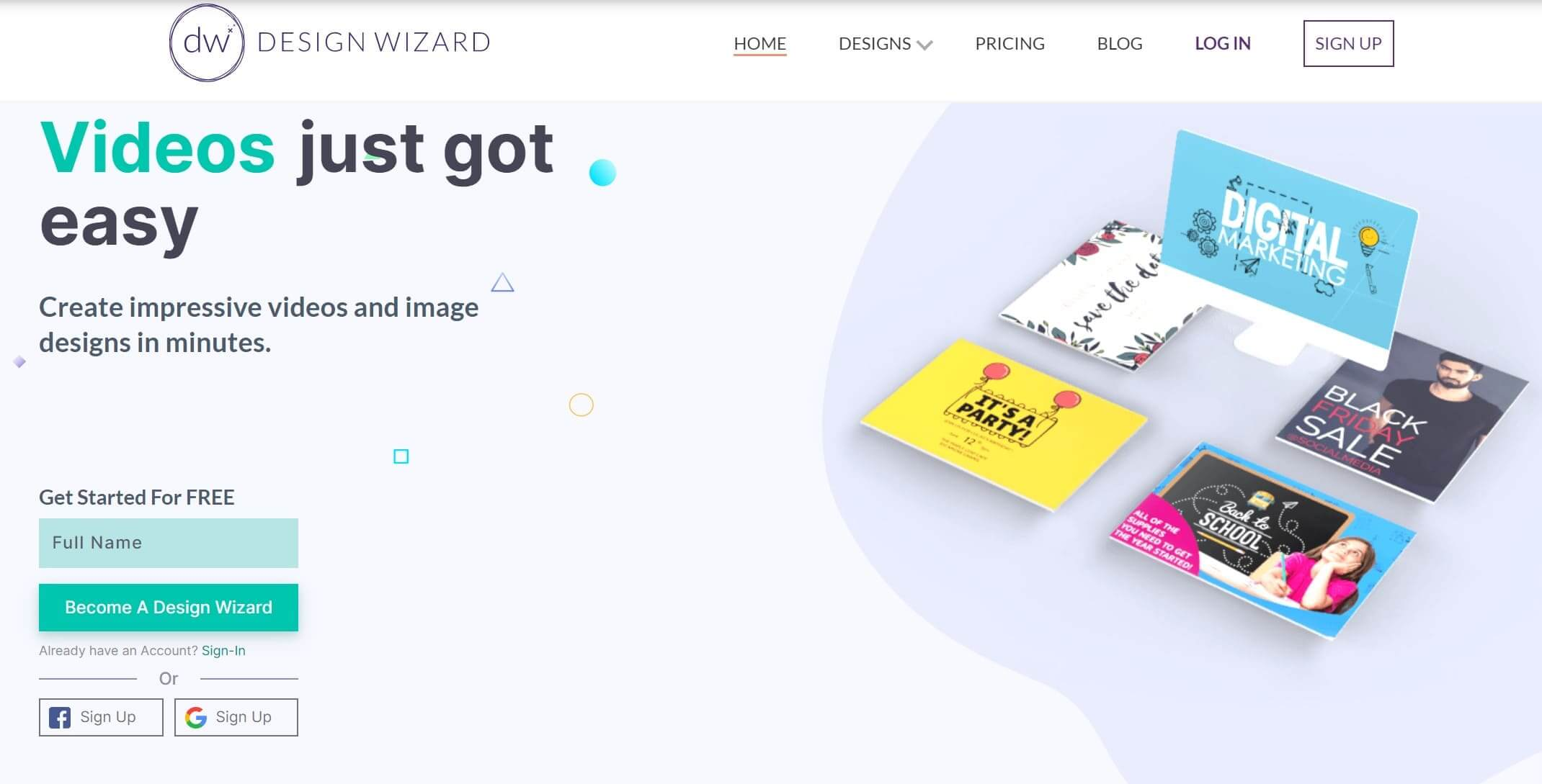 DesignWizard's website