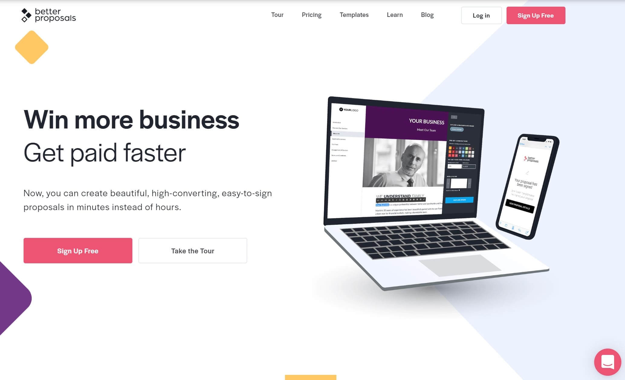 BetterProposals website