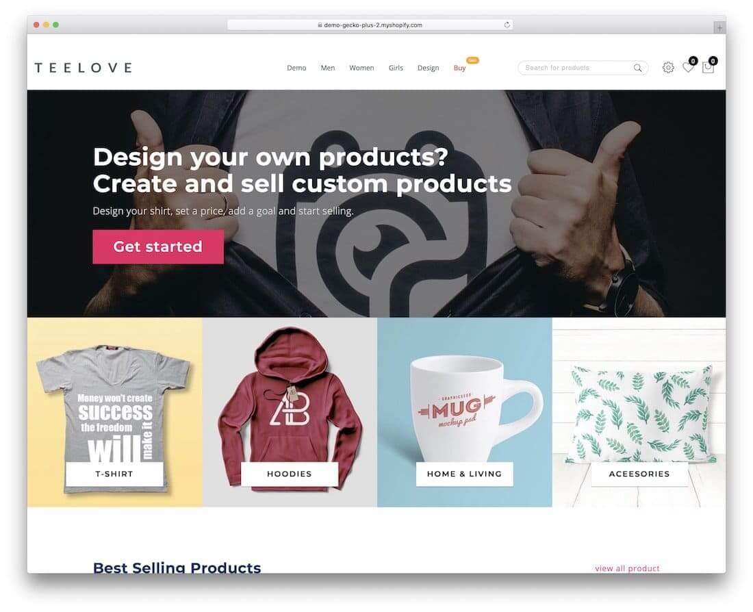 Teelove shopify blog theme