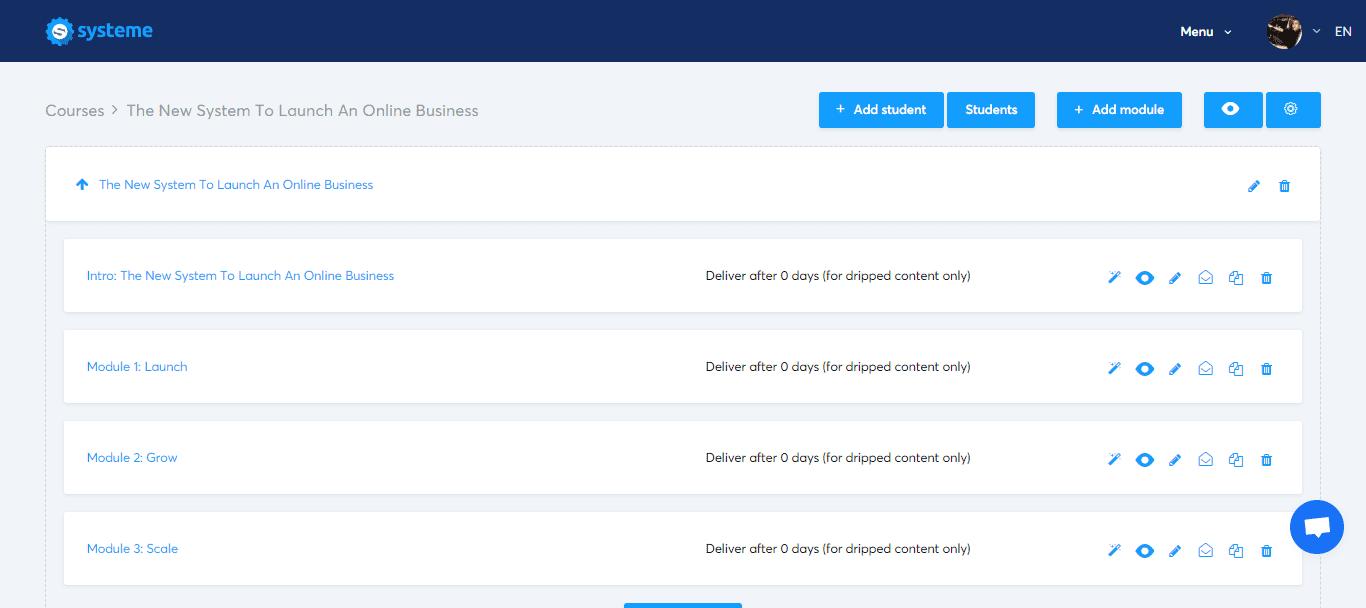 systeme.io's courses